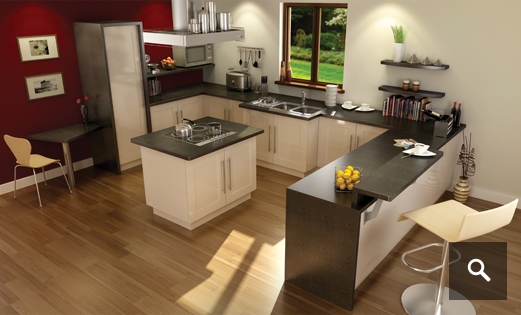 Dark Olive | granite worktops